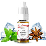 UK Flavour Menthol Range Concentrate 0mg 10 x  10ml (Mix Ratio 15-20%)