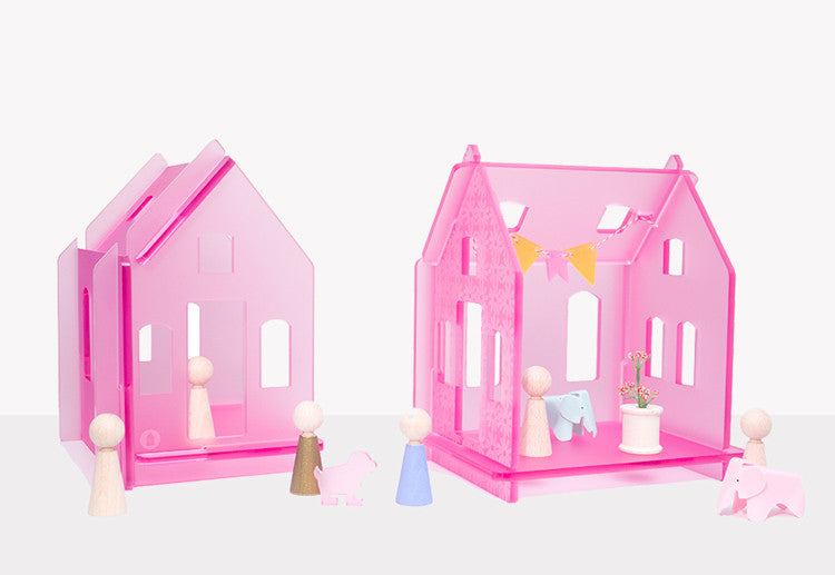Clear Acrylic Dollhouse: sparkle & Shine Huset