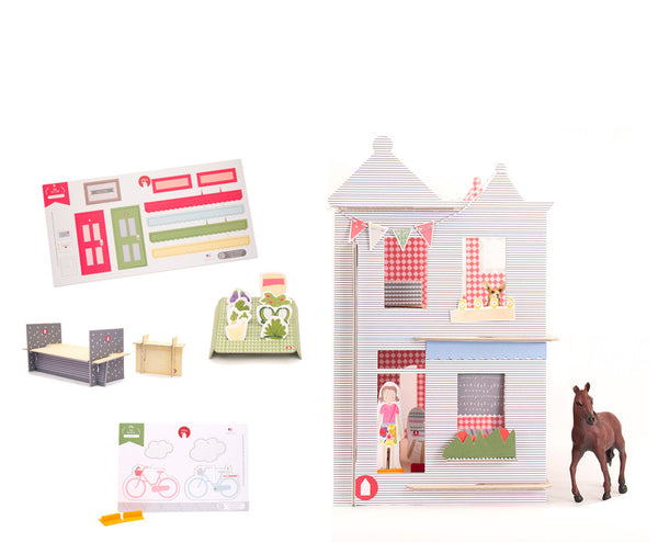 DIY Paper Dollhouse Bundle: Logan Victorian