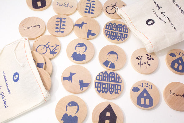 Wooden Matching Game: Paris