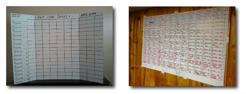 diy fantasy football draft board version 2