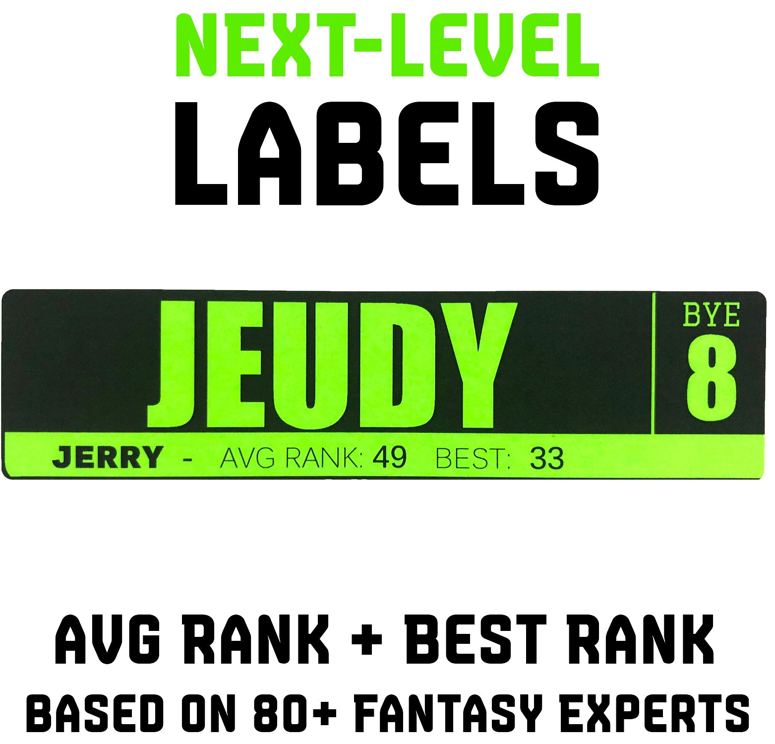fantasy football labels