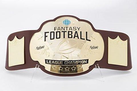 Fantasy Football Championship Belt Trophy - Brown/Gold
