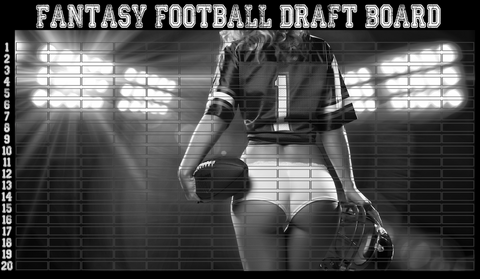 backside beauty football draft board black white