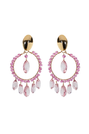 Pink Topaz Cara Earrings