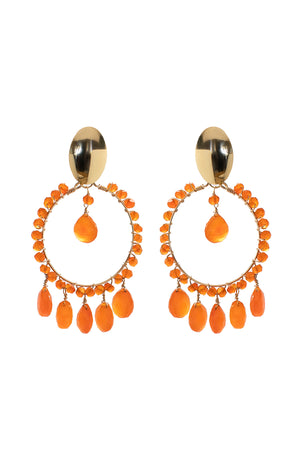 Carnelian Cara Earrings
