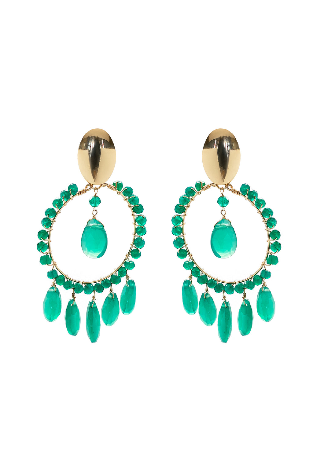 Green Onyx Cara Earrings