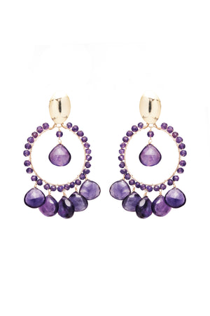 Amethyst Cara Earrings