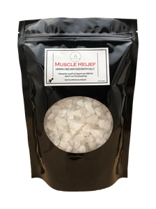 MUSCLE RELIEF BATH SALT- 400MG FULL SPECTRUM CBD