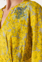 Yellow Day Dress with Embroidered Design