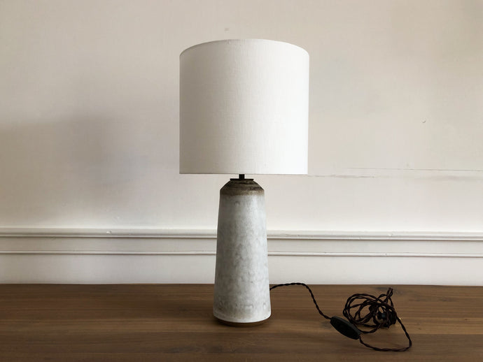 Birch/Bronze Thimble Lamp by Victoria Morris
