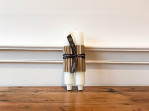 Column Candle Pair - Cream