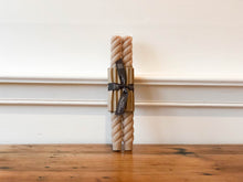 Rope Candle Pair - Dune 10""