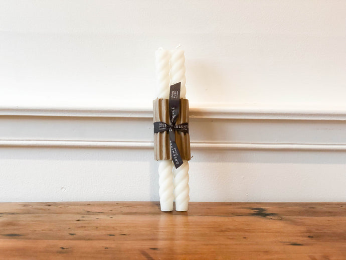 Rope Candle Pair - Cream 10