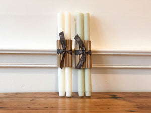 Church Candle Pair - Cream