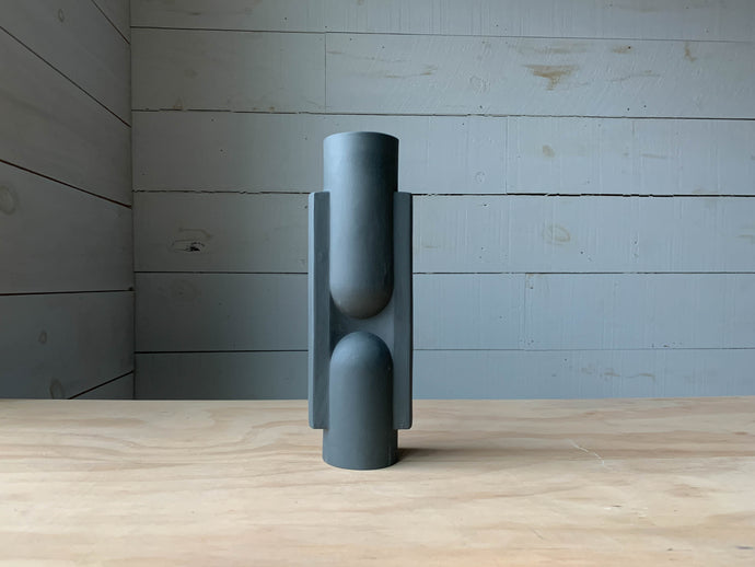 Slender Ceramic Vase in Grey