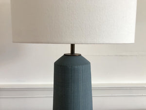 X-Large Matte Blue Column Lamp