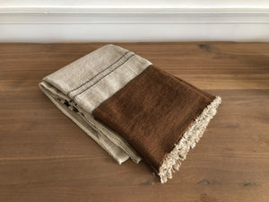Foundry Throw - Beeswax stripe