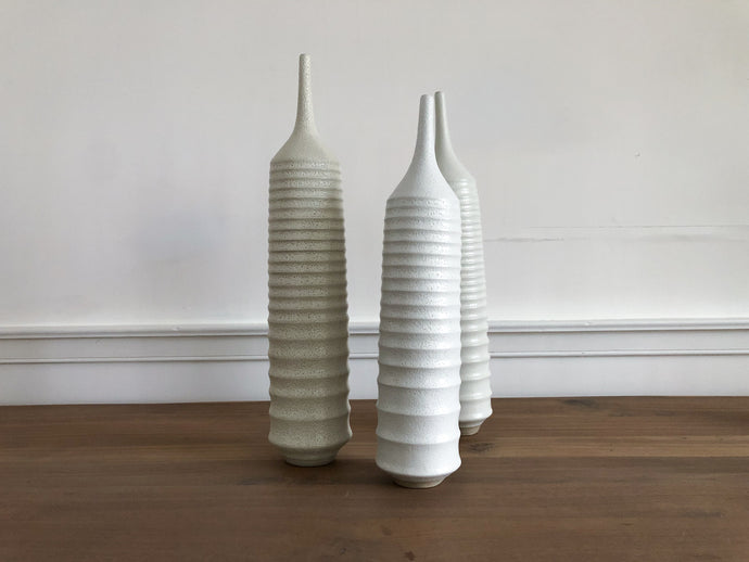 White Ribbed Vessel, Extra Large