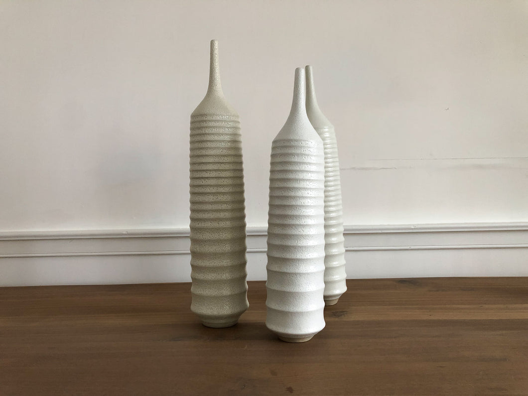 White Ribbed Vessel, Medium