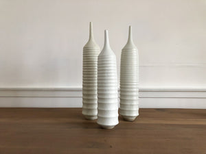 White Ribbed Vessel, Large