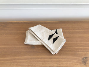 Double Triangle Natural Napkins