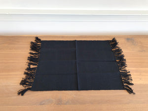 Black Fringed Placemat