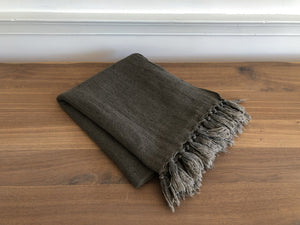 Linen Throw in Coffee