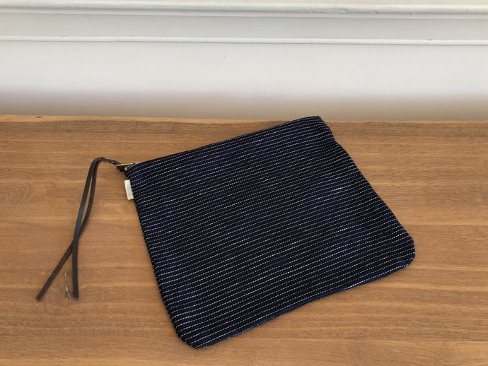 Canna Pouch Navy Pinstripe