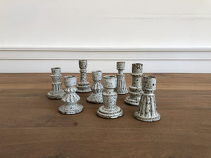 One-of-a-Kind Stoneware Candlesticks