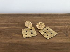 Textile Earrings in Brass