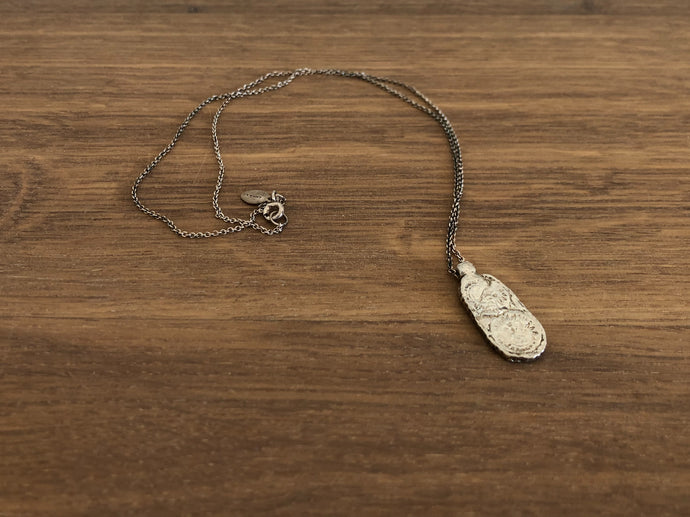 Tablet Necklace in Silver