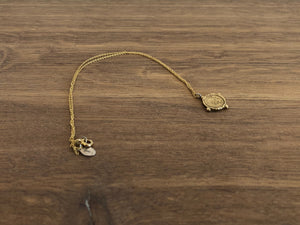 Cardinal Necklace in Brass