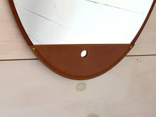 Fairmont Leather Long Oval Mirror