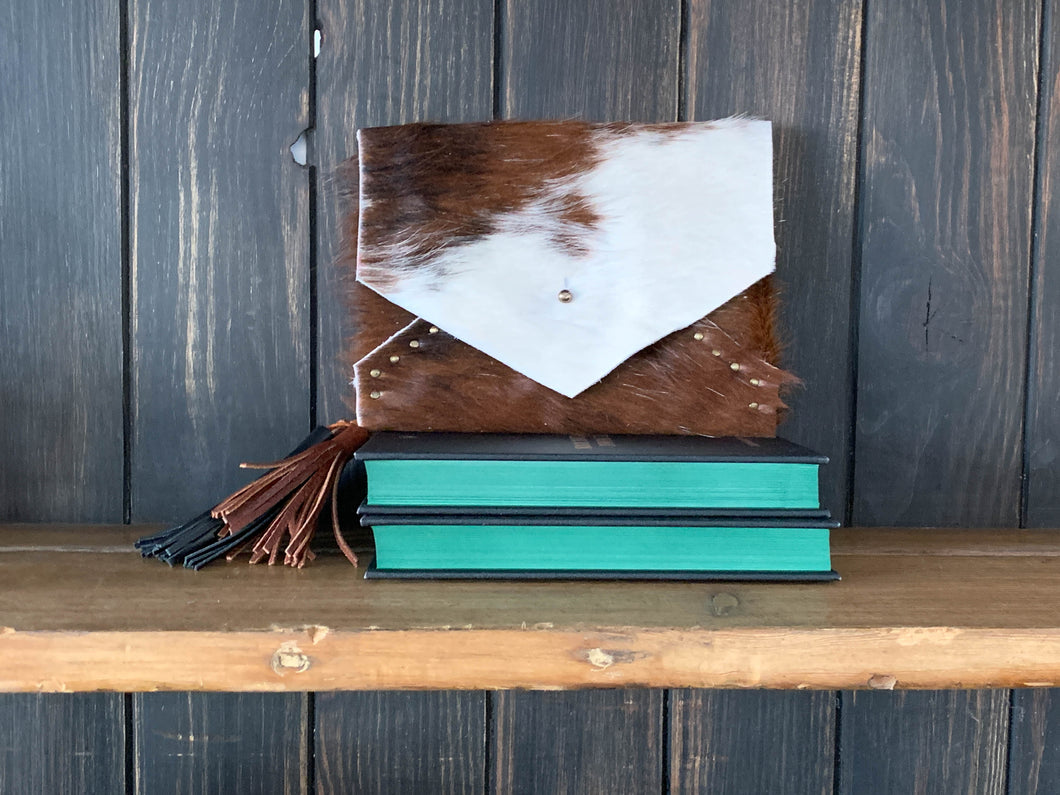 The Rivet Envelope Clutch - Cowhide