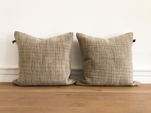 Construction Beeswax Washed Pillow Cover