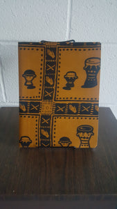 African Drum Print Notebook
