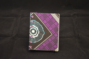 Purple African Print Mini Journal