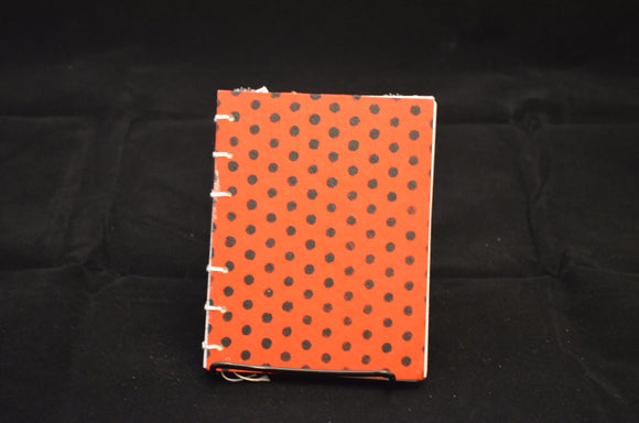 Red and Black Dot Mini Journal