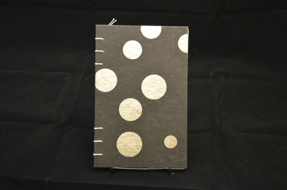 Black and Silver Dot Journal