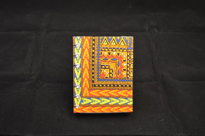 Green African Print Mini Journal