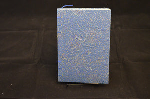 Blue & Silver Blank Journal - Yellow Paper