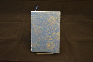 Blue & Silver Blank Journal - White Paper