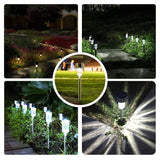 Solar Powered Pathway Bright White-Landscape Light