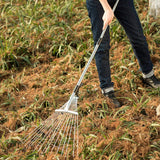 61 Inch Adjustable and Telescopic Metal Rake (Iron Handle)