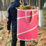 Reusable Gardening Lawn Leaf Bags (pink)