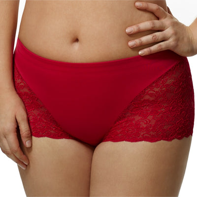 ELILA 3311 CHEEKY STRETCH LACE BRIEF
