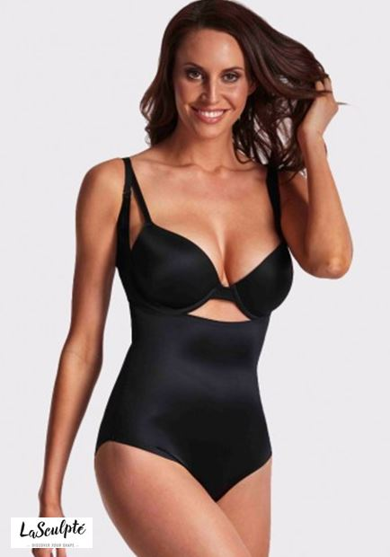 LASCULPTE SH1408BLK UNDERBUST SMOOTH SHAPING BODYSUIT