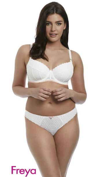 FREYA AA5133WHE DAISY LACE UNDERWIRE HALF CUP BRA