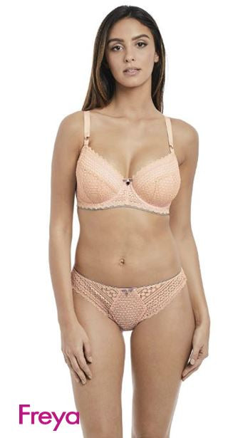 FREYA AA5133BLH DAISY LACE UNDERWIRE HALF CUP BRA